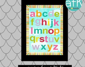 COLORFUL ABC Nursery Art print for Girls or Boys...