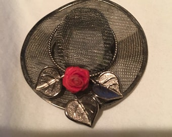 Adorable Hat Pin Mesh Brooch