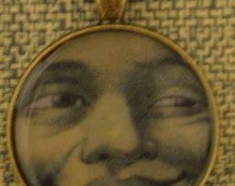 Moon Face Pendant Necklace