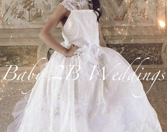 Vintage Dress White Lace Dress Flower Girl Dress Ivory Dress White Dress Tulle Dress Party Dress Birthday Dress Toddler Tutu Dress Girls