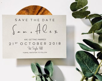 Handmade Save The Date Invitations