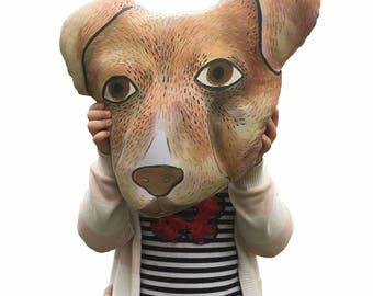 Jack Russell, Dog, stuffed pillow, plush toy, nursery, collection, illustration, modern