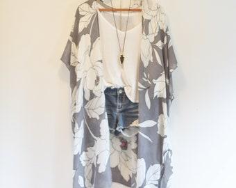 Duster bohemian kimono * Floral pattern * ALABAMA SONG*