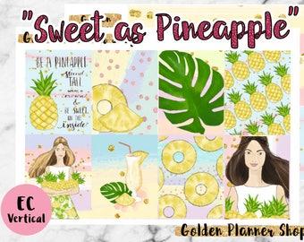 Sweet as Pineapple Sticker Full Kit, Planner Stickers for Erin Condren Vertical Planner