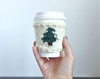 MADE TO ORDER •Knit Coffee Cozy Sleeve • Coffee Cozy Knit Cup Sleeve • Tea Cozy Starbucks • Pine Barrens Coffee Cozy