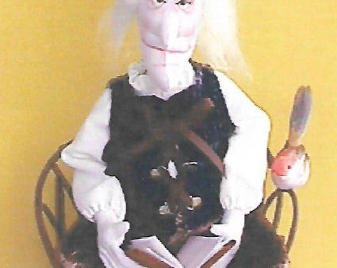 """KK707E – The Story Teller  - 18"""" Cloth Doll Making Sewing Pattern, PDF Download"""