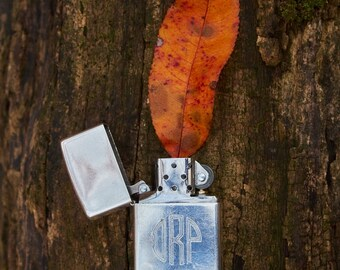 Zippo sterling silver vintage new wick and flint