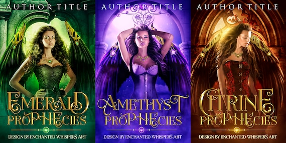 premade fantasy cover series dark Angel prophecies set of three