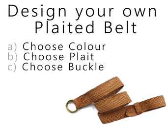 Design your own Plaited Leather Belt
