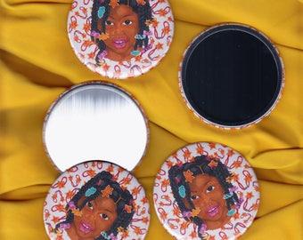 Star Girl Pocket Mirror
