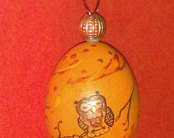 Owl Bantam Egg Ornament