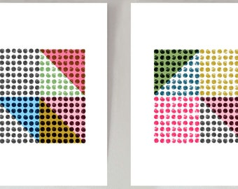 Dots abstract wall art prints