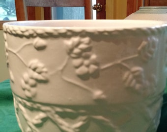 Porcelain Planter, Porcelain Pottery, Indoor Planter, White Home Decor Planter