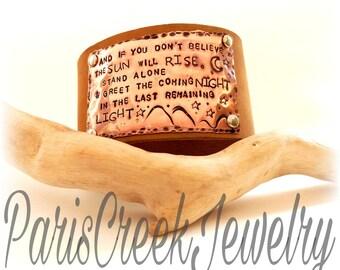 Greet The Night, Chris Cornell Inspired Cuff Bracelet
