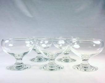 Set of 5 Coupe Dessert Glasses