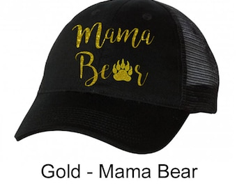 TVHS Mama Bear Black & Black Trucker Hat