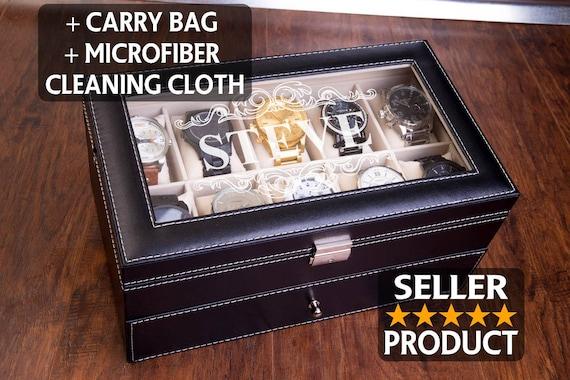 EXTRA LARGE 20 Piece Watch Box 20 XL Slots Watch Organizer