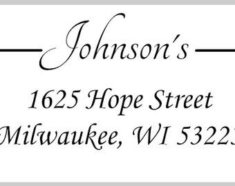 30 Return Address Labels, Clear Address Labels, White Return Address Labels, Return Address Label, Personalized Address Label, Address Label