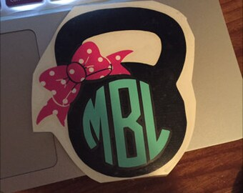 three color Kettle Bell Decal