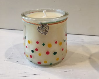 Gardenia citrus scented candle / hand poured soy wax / 20+ hour burn time