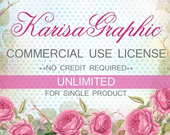 Commercial No Credit License - For One Clip Art Set,  no credit required, digital clipart, extended license