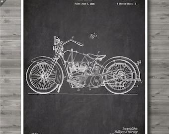Harley Motorcycle poster, Harley Motorcycle patent, Harley Motorcycle print, Harley Motorcycle Art, Harley Davidson Wall Decor no84
