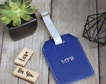 Personalized Leather Luggage Tag, Customized Baggage tag,  Real Leather Luggage Tag, Travel Tag, Baggage Tag