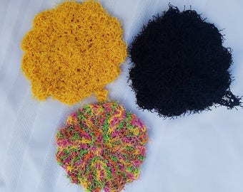 Handmade Crocheted Dish Scrubber, Scrubbies, Cleaning Scrubs