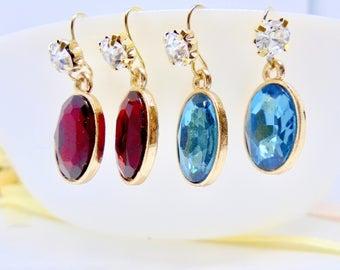 Blue earrings, wedding earrings, bridal earrings, earrings, crystal earrings, brides earrings, wedding jewellery, gifts for her