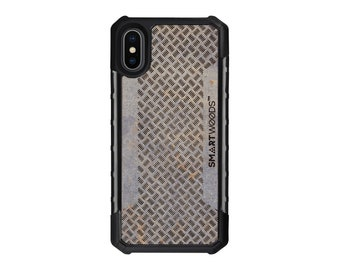 iPhone X - Solid Armor 5-willow pattern Bars Concrete - Cover