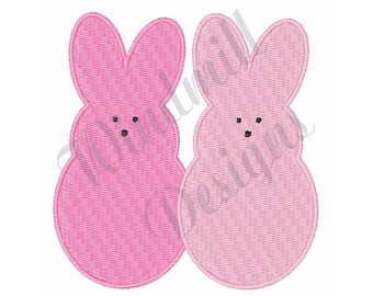 Easter Bunnies Peeps- Machine Embroidery Design