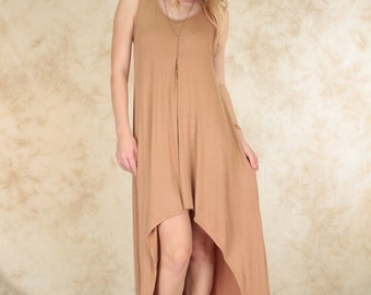 Sleeveless Hi-low Maxi Dress