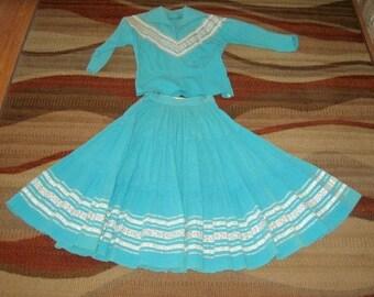 Turquoise squaw dress/2-piece
