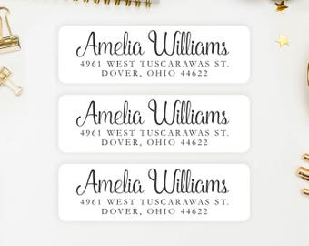 Address Labels / Personalized Return Address Labels / Custom Address Labels / Address Sticker / Address Label Sticker / The Amelia