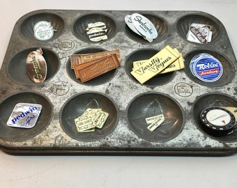 Farmhouse Decor or Craft Supply Storage. Antique Minute Maid Mold Pan. 12 Slots and Perfect Aged Patina. Store or Make.