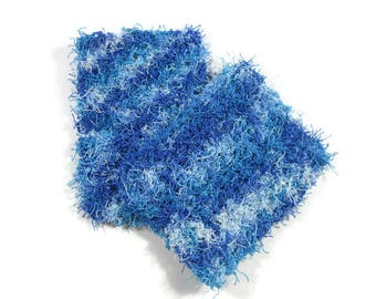 Blues and White Scrubbers Set of 2