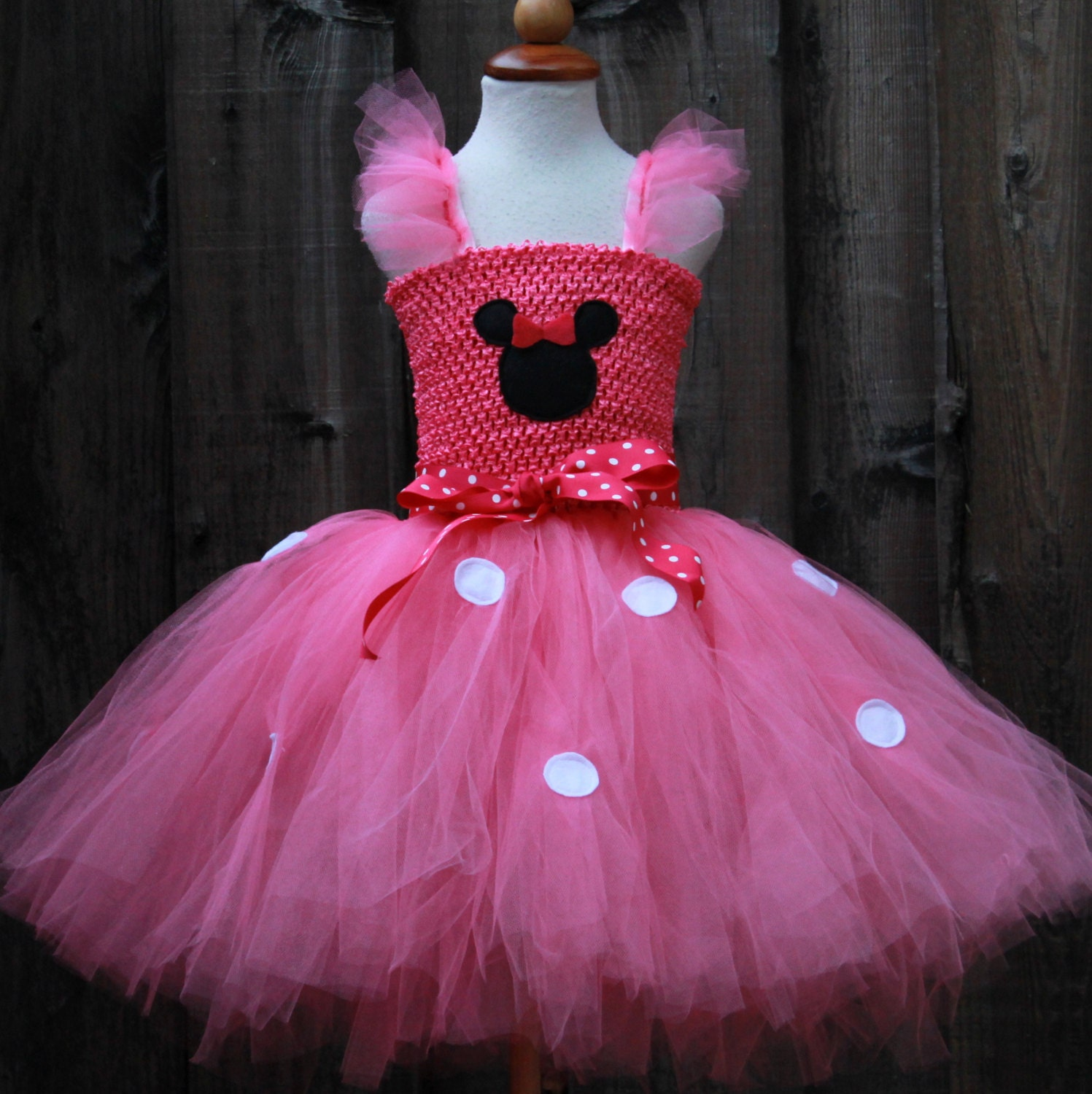 Minnie Mouse rosa Kleid Minnie Maus Kleid Minnie Maus