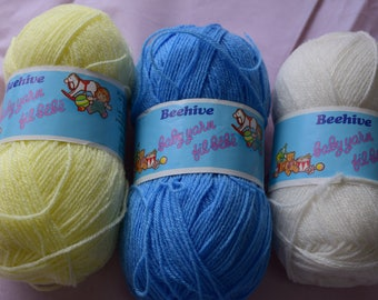 Beehive Baby Yarn 3 colors sell together 150 g