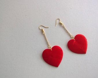 Satin Heart Earrings