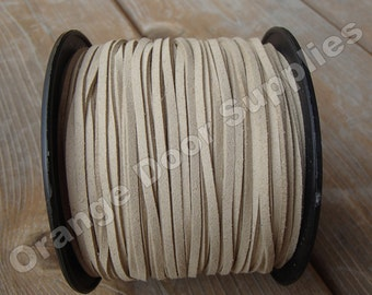 5 yards Taupe Suede Cord 3 x 1.5 mm- 15 feet (404)