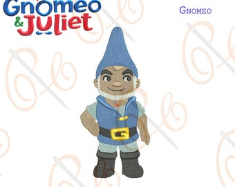Gnomeo & Juliet- Gnomeo Machine Embroidery Design, Sherlock Gnomes Embroidery Design, Character Embroidery File, Paadar Club