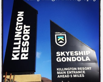 Killington Resort in Vermont - Tile Coaster