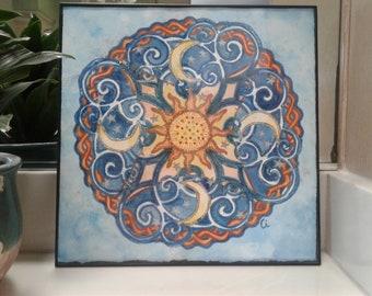 Celtic Sun Moon Stars Mandala