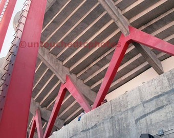 Candlestick Park Art Photograph  - Classic Red Support Beam