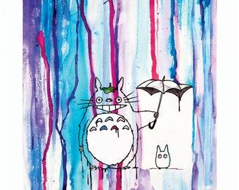 Totoro print by Lazer Liz