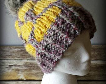 Knit Hat Pattern/Slouchy Hat/Knit Beanie Pattern/Knit Hat/Slouchy Beanie/BAKER STREET BEANIE/Knit Beanie/Slouchy Beanie Pattern/Sherlock