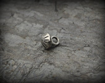 Birka Button 11 mm Sterling Silver, Viking Button, Medieval Button, Viking Clothes