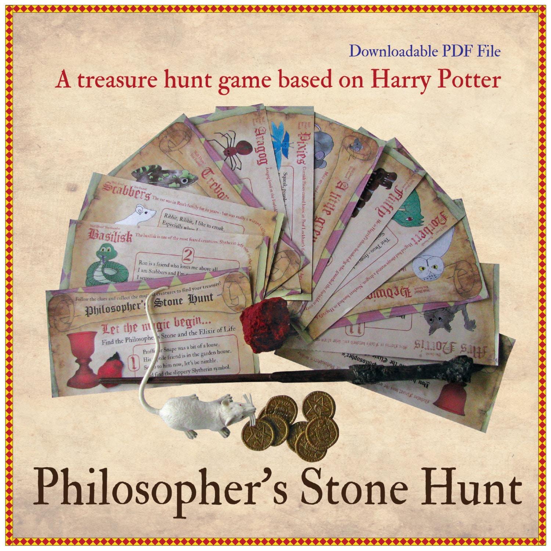 Philosophers stone treasure hunt 12 illustrated clues and zoom kristyandbryce Gallery