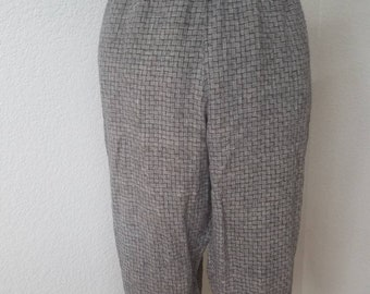 Flax cropped pants size large