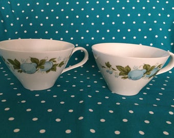 Noritake Set of Two Cups 6695 Blue Orchard